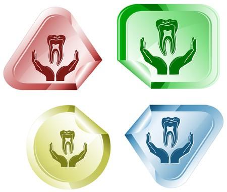 hamose: health in hands.  sticker.