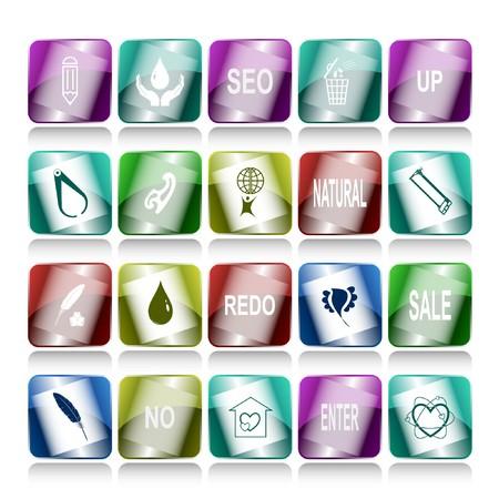set of internet buttons. 20 elements. Stock Photo - 8220511