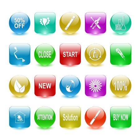 set of interface elements Stock Photo - 8220504