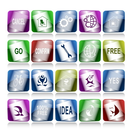 set of internet buttons. 20 elements. Stock Photo - 8249321