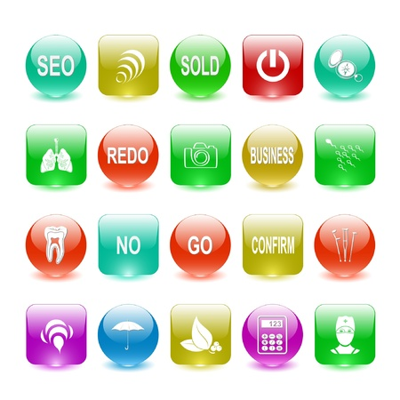 set of interface elements Stock Photo - 8249313