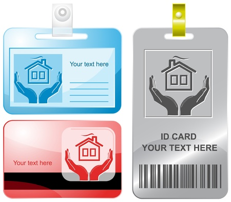 comfort in hands. id cards. Stock Photo - 8249350