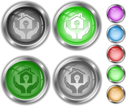 economy in hands. Vector internet buttons. Stock Photo - 8406627