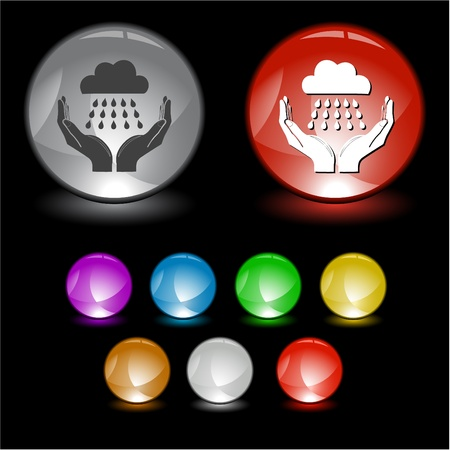 weather in hands. Vector interface element. Stock Photo - 8406598