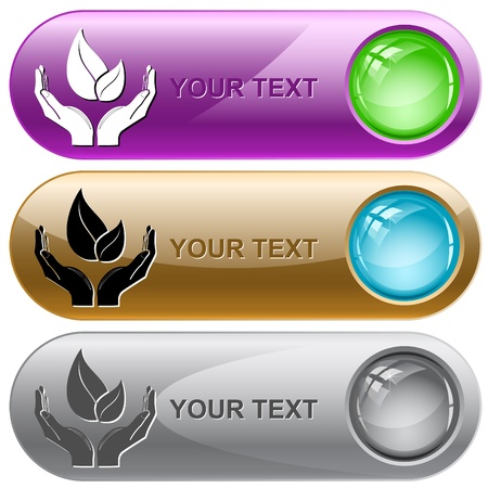 life in hands. Vector internet buttons. Stock Photo - 8406628