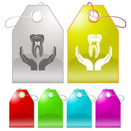 health in hands. Vector tags. Stock Photo - 8406597