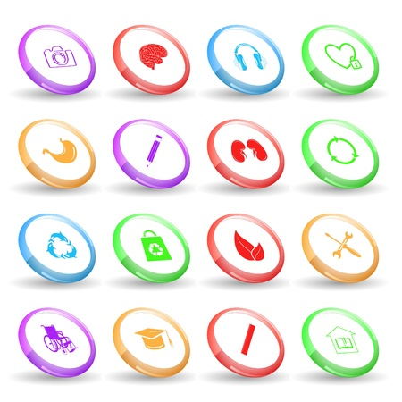 Vector set of rings Stock Photo - 8406621