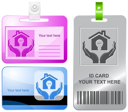 economy in hands. Vector id cards. Stock Photo - 8456710