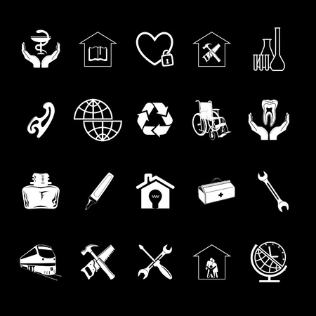 Vector set of icons Stock Photo - 8456695