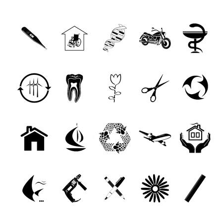 planos electricos: Vector de conjunto de iconos Foto de archivo