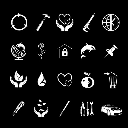 Vector set of icons Stock Photo - 8456679