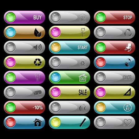 set of internet buttons. 24 elements. Stock Photo - 8495905
