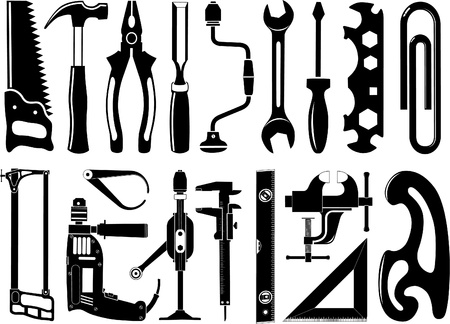 Vector icons of instruments photo