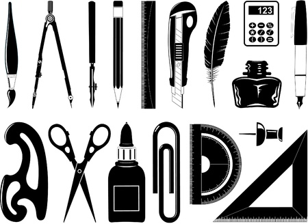 Vector icons of office tool Stock Photo - 8602837