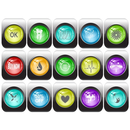 Vector set of internet buttons photo
