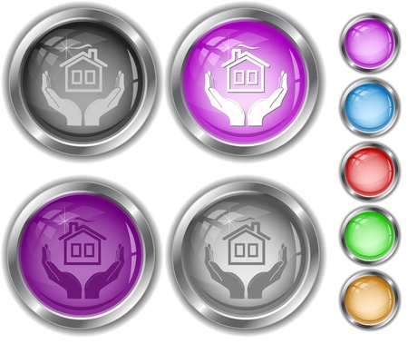 comfort in hands. Vector internet buttons. Stock Photo - 8601419