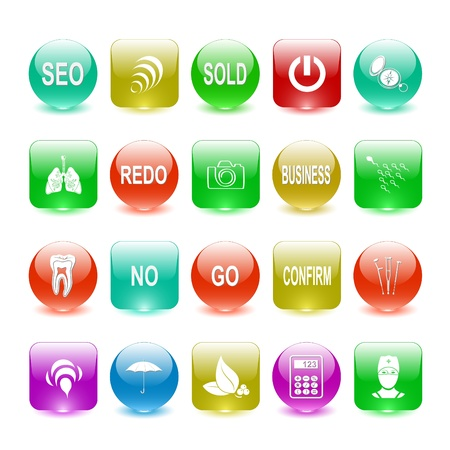Vector set of interface elements Stock Photo - 8602842