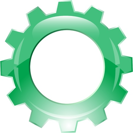 rueda dentada: Icono de engranaje de vector Foto de archivo