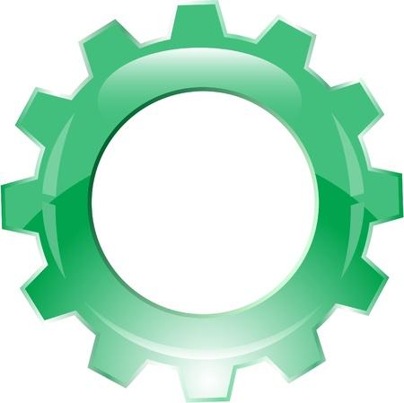 Vector gear icon photo