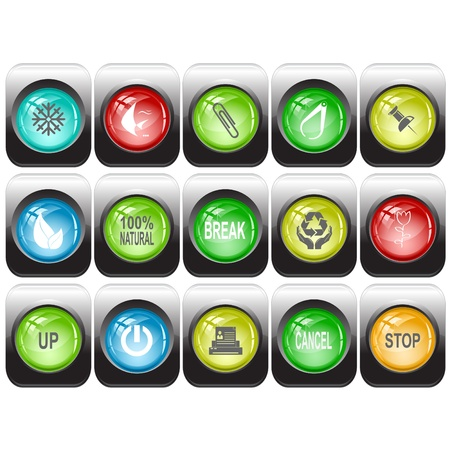 set of internet buttons Stock Photo - 8616608