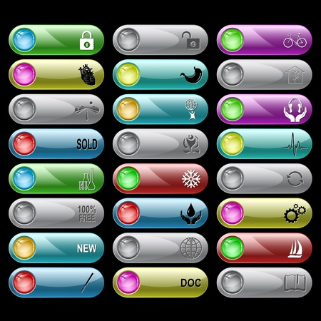 set of internet buttons. 24 elements. Stock Photo - 8616609