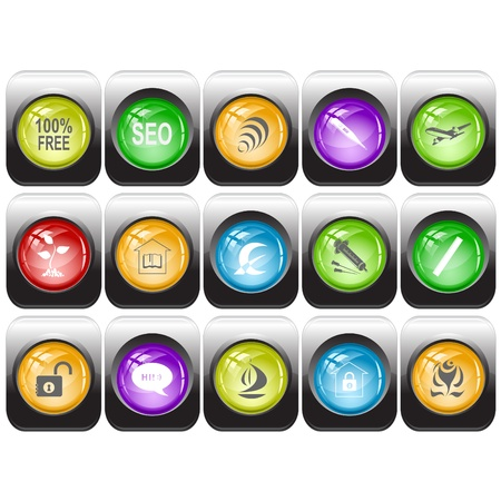 set of internet buttons Stock Photo - 8737000