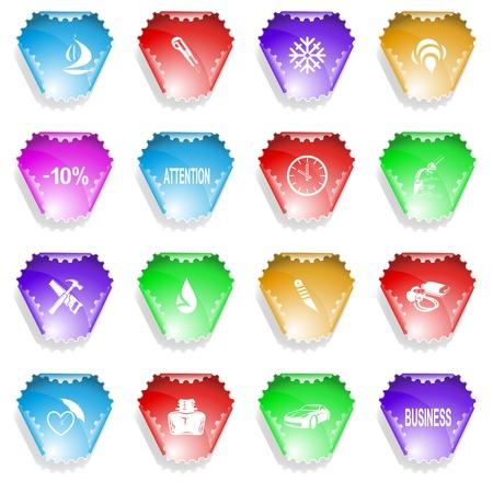 set of stickers Stock Photo - 8737019