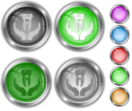 health in hands. internet buttons. Stock Photo - 8737686
