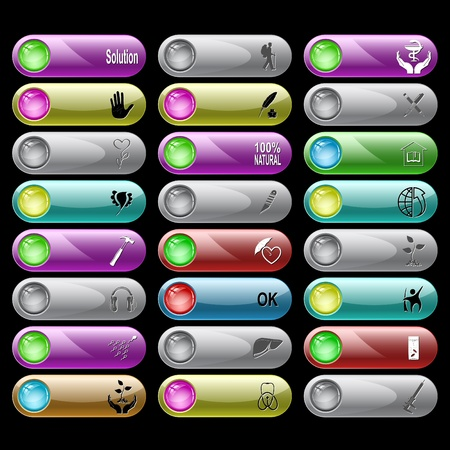 set of internet buttons. 24 elements. Stock Photo - 8737837