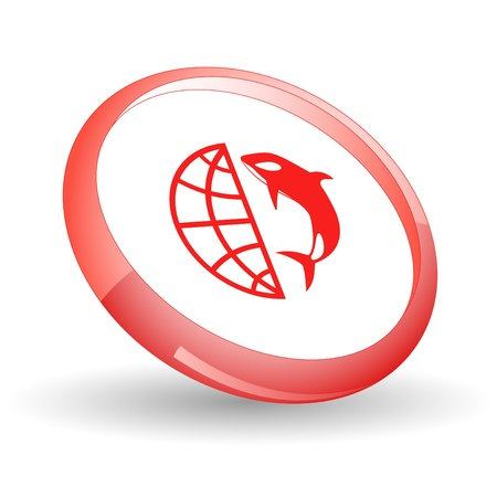 Globe and shamoo. icon. Stock Photo - 8737756
