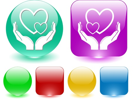 love in hands. interface element. Stock Photo - 8737847