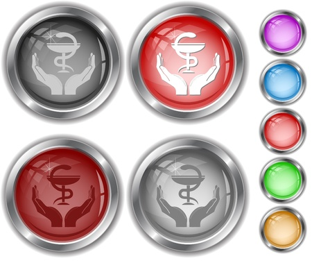 health in hands. internet buttons. Stock Photo - 8737926
