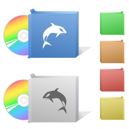 Killer whale. Box with compact disc. Stock Photo - 8737876