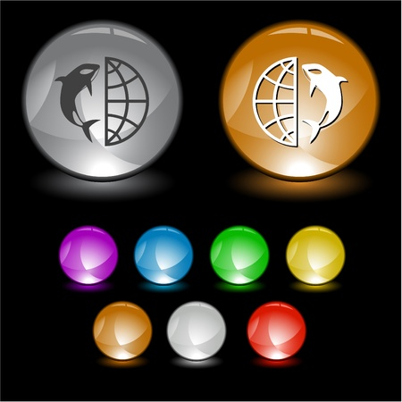 Globe and shamoo. interface element. Stock Photo - 8769884