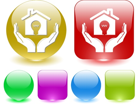 economy in hands. Vector interface element. Stock Photo - 8781153