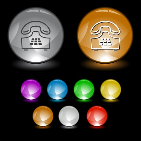 Push-button telephone. Vector interface element. photo