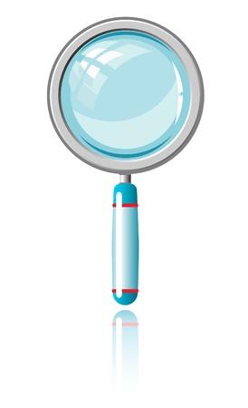 拡大鏡。ベクトル イラスト。