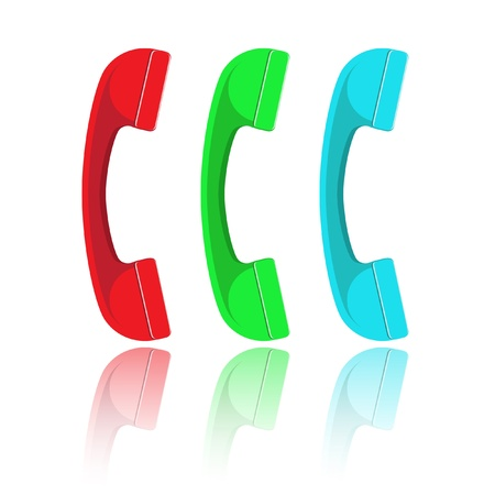 handset: Vector handset Stock Photo