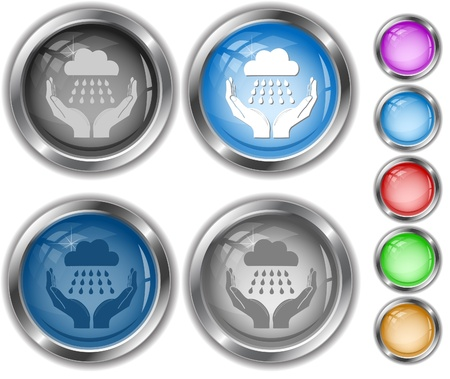 weather in hands. Vector internet buttons. Stock Photo - 8987229