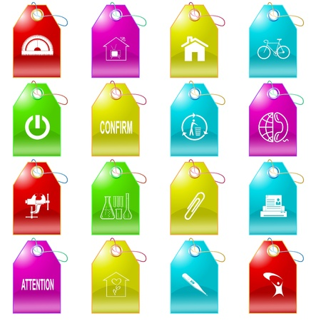 Vector set of tags photo