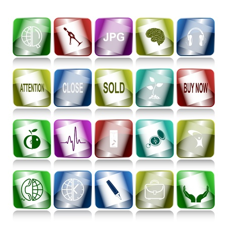 Vector set of internet buttons. 20 elements. Stock Photo - 8987237