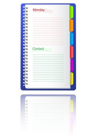 Notebook. Vector illustration. Stock Illustration - 8987214