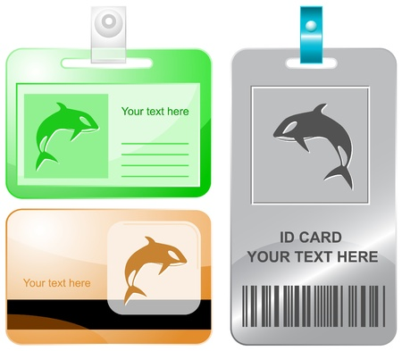 Killer whale. Vector id cards. Stock Photo - 8987248