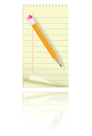 Blank paper and pencil. Vector illustration. Stock Illustration - 8987243