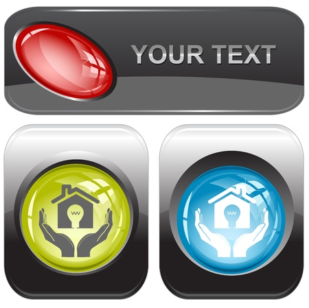 economy in hands. Vector internet buttons. Stock Photo - 9168505