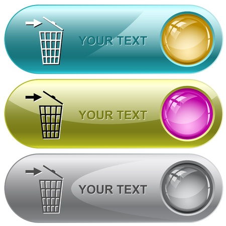 Recycling bin. Vector internet buttons.