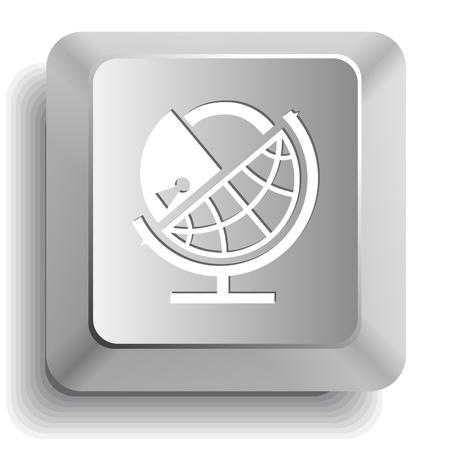 Globe and lock. Vector computer key. Stock Photo - 9168494