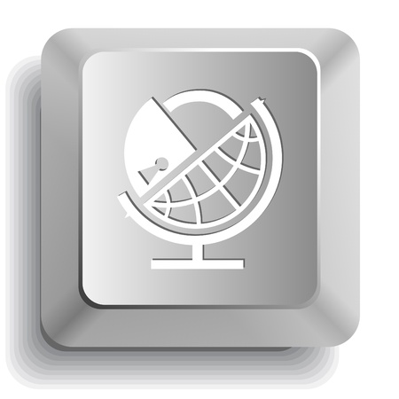 Globe and lock. Vector computer key. Stock Photo - 9168494
