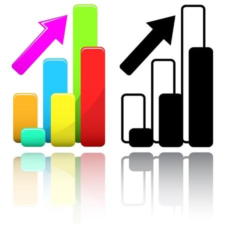 Business graph. Vector illustration. Stock Illustration - 9168489