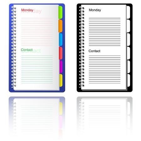 Notebook. Vector illustration. Stock Illustration - 9168490